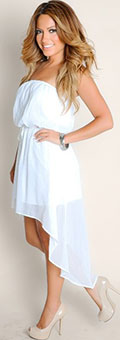 Women's white party outfit
